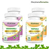 Garcinia Cambogia (HCA >60%) + Triphala For Effective Weight Loss - 500mg Extract - 60 Veg Capsules Each (Pack...
