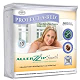 Protect-A-Bed 13-Inch Allerzip Smooth Mattress Encasement, Queen