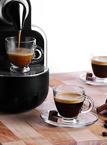 Set de 6 tasses et 6 sous tasses en verres - Tasses à Café, Cappuccino, Cafe Latte, Thé, Chocolat- Sables & Reflets