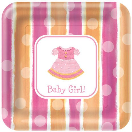 Girl Clothes Dinner Plates - 1