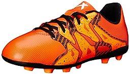 adidas Performance X 15.4 FXG J Soccer Cleat (Little Kid/Big Kid), Bold Orange/White/Solar Orange, 1 M US Little Kid