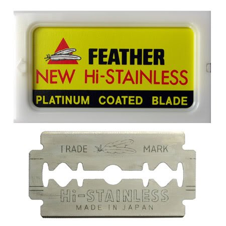 Feather 10 Razor Blades New Hi-Stainless Double Edge (Best Safety Razor Blades compare prices)