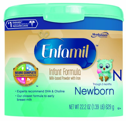 Enfamil Newborn Infant Formula, Powder In Reusable Tub, 22.2 Ounce (Packaging May Vary) front-1012193