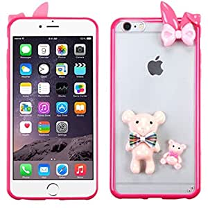 MyBat APPLE iPhone 6 Plus Gummy Cover with 2 Bears - Retail Packaging - Red