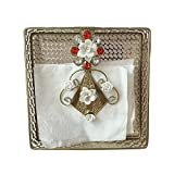 Karp Square Iron Craft Brass Table Paper Napkin Holder Tissue Box Case