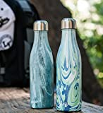 MIRA 17 Oz (500 ml) Vacuum Insulated Water Bottle | Double Walled Stainless Steel Cola Shape Travel Sports Water Bottle - BPA Free, Keeps Your Drink Hot & Cold