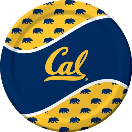 Creative Converting 8 Count Uc Berkeley Golden Bears Paper Dinner Plates