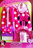 Minnie Mouse Bow-tique Disney Pretend Cleaning Set. Broom, Dustpan, Apron and Small Box.