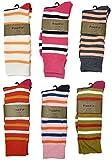 Fine Fit Men's Dress Socks Designer Stripes Size 10-13 (6 Pairs Orange...