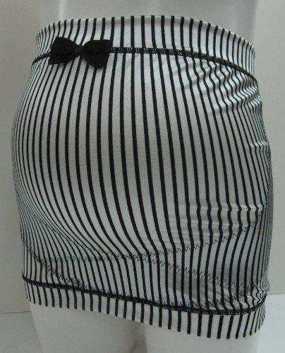 ローズマダム(Rosemadame) 妊婦帯 (ギャルママ) ストライプ ホワイト M-L 117-2906-01