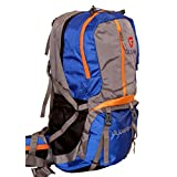 Gleam 2209 Climate Proof Rucksack / Hiking / Trekking Bag / Backpack 60 Ltrs Royal Blue & Grey With Laptop Sleeve...