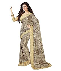 My online Shoppy Georgette Saree (My online Shoppy_148_Grey)