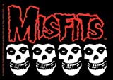 Licenses Products Misfits Skulls Sticker, 4-Piece