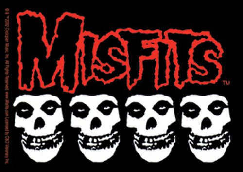 Licenses Products Misfits Skulls Sticker, 4-Piece - 1