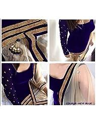 Typify Velvet Semistitch Dress Material