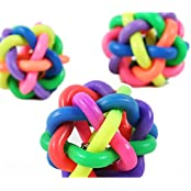 Pet Toys Elastic Ball Rubber Ball For Pet Training, Colorful