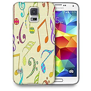 Snoogg Colorful Music Alphabets Printed Protective Phone Back Case Cover For Samsung S5 / S IIIII