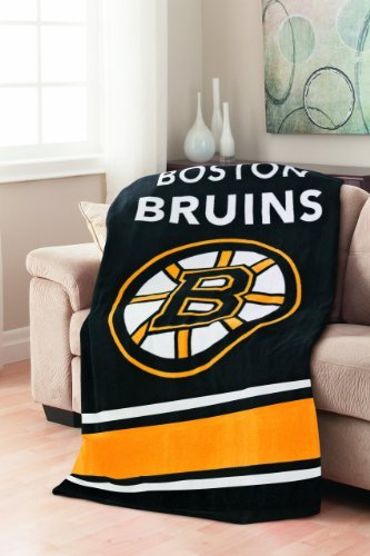 "Sunbeam Nhl Fleece Heated Throw, Boston Bruins Thermofine Technology 3-Heat Settings & 3-Hour Auto-Off Measures 50"" X 60"""