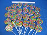 24 Large 3 Swirl Lollipops