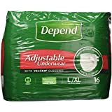Depend Refastenable Underwear - Large - Pack of 16