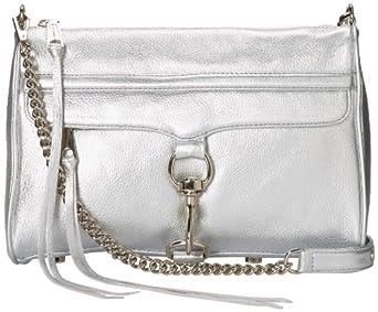 Rebecca Minkoff MAC 045E001 Convertible Cross-Body Handbag,Silver,One Size