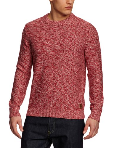 Henri Lloyd Pegwell Regular Crew Knit Men's Jumper Cowes Red Medium
