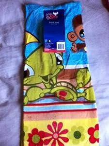 Littlest Pet Shop Monkey, Turtle, Dog Towel 30 in X 60in.
