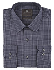 Cotton Rich Easy to Iron Checked Shirt