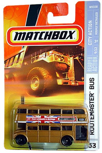 55th Anniversary Matchbox Routemaster Double Decker Bus Bronze Old style wheels scale 1/64 2008 - 1
