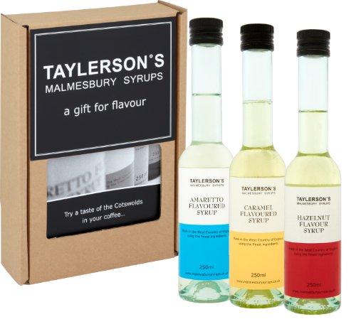 3 x 250ml - Coffee Lovers Syrup Gift Box ;Amaretto, Caramel & Hazelnut