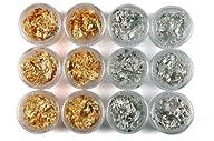 1 BOX 12 gold silver foil paillette n…