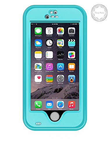 iPhone 6 Waterproof Case, Bessmate (TM) iPhone 6 Underwater Protection Cover Waterproof Shockproof SnowProof DustProof Case with Viewing Kickstand Fingerprint Recognition Touch ID for iPhone 6 4.7inch