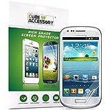 CUBE ACCESSORY Pack de 3 Film De Protection D'écran Pour Samsung Galaxy S3 MINI I8190 Anti-Reflet
