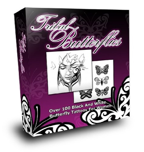 black and white butterfly tattoos. Tribal Butterflies Tattoos