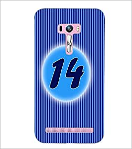 PrintDhaba Numerology Number 14 D-2570 Back Case Cover for ASUS ZENFONE SELFIE ZD551KL ULTRA (Multi-Coloured)