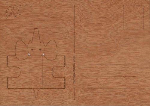 bastel origami postkarte aus holz zedernholz. Black Bedroom Furniture Sets. Home Design Ideas