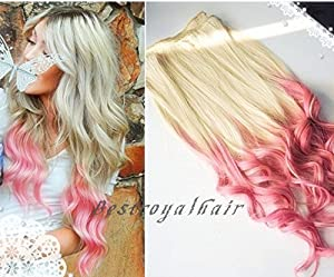 bestroyalhair white blonde to pink two colors