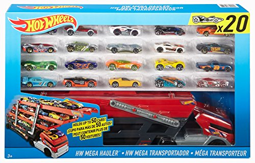 Hot Wheels Mega Hauler Giftset with 20 Hot Wheels Cars (Car Styles May Vary) (Hot Wheels Gift Pack compare prices)