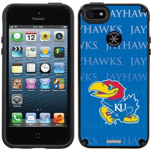 Special Sale University of Kansas Repeating design on a Black iPhone 5s / 5 CandyShell Case by Speck