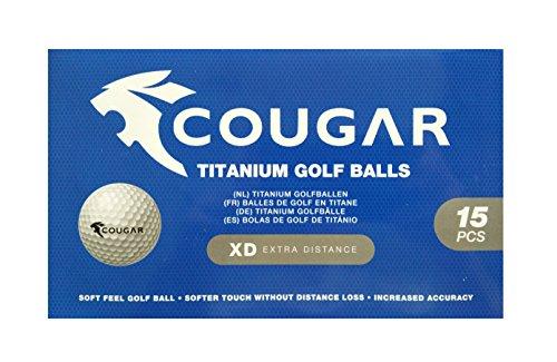 Cougar Golfbälle 15 St. Titanium