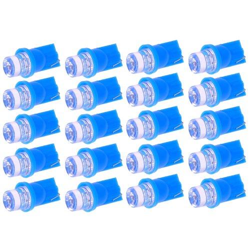 20*Ultra Blue T10 Led Bulb For Car Gauge Cluster Lights