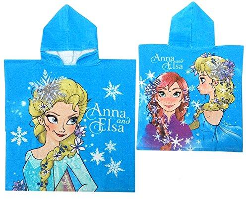 Disney Frozen Il Regno Di Ghiaccio-Accappatoio a poncho poncho asciugamano azzurro