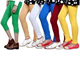 IndiWeaves Girls Cotton Legging with Cotton Capri Set of- 6
