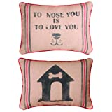 Manual Woodworkers And Weavers Dog To Rescue Printed Pillow 13 By 18-Inch