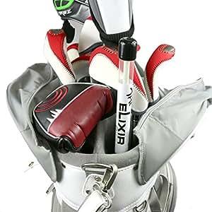 Elixir Golf Golf Training Aids Trainer Tour Sticks Golf Alignment Stick (White), GTS-W