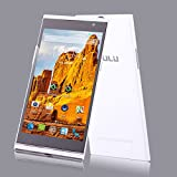 """iRulu Newest V1 Phone - 5.5"""" QHD Ultra Lightweight Android 4.4 Smartphone with Dual SIM Card 8.0MP Back Camera Quad Core 1.3GHZ (White)"""