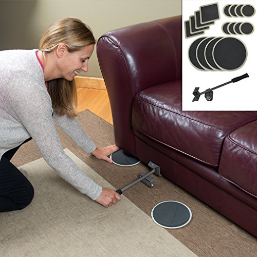 evelots furniture lifter with 16 mover pad sliders carpet smooth floor sets living room sets. Black Bedroom Furniture Sets. Home Design Ideas