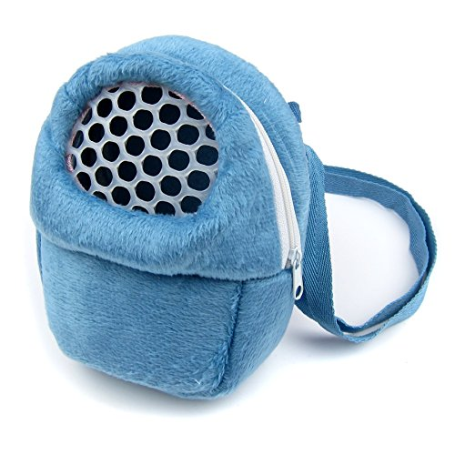 Alfie Pet by Petoga Couture - Ricki Travel Carrier Vacation House for Small Animals (Living Habitat for Dwarf Hamster and Mouse) - Color: Blue, Size: Small