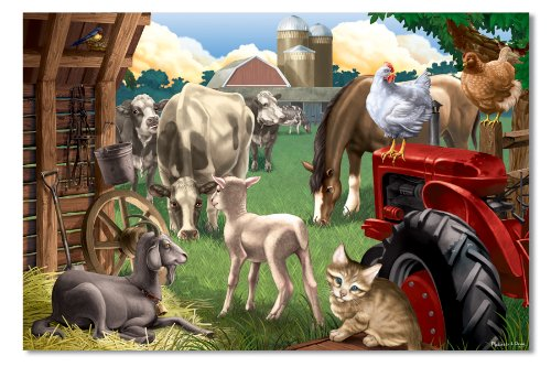 Melissa & Doug In The Barnyard Cardboard Jigsaw Puzzle (100 pc)
