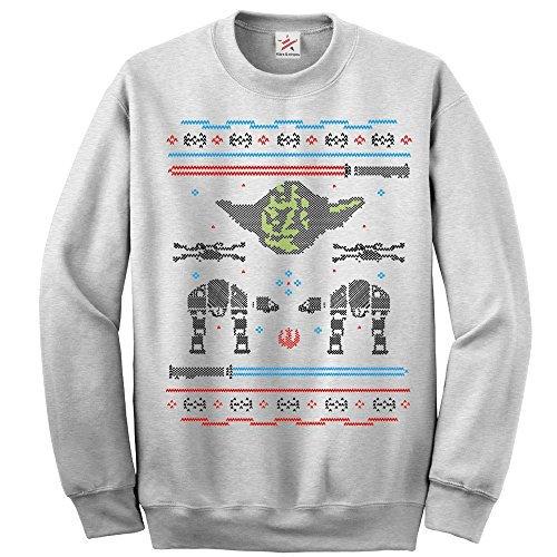 Inspiriert-Weihnachten-YODA-AT-at-Weihnachten-langrmelig-sweatshirt-pulli-Lustig-Bedruckte-Sweatshirts-pullover-Pullover